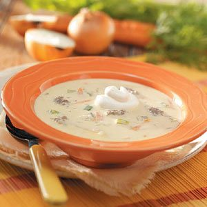 Cheeseburger Soup with Rice Recipe
