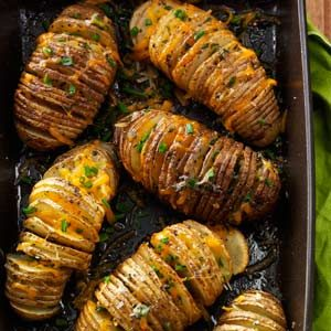 Cheese & Herb Potato Fans Recipe