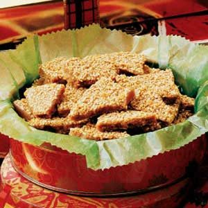 Quick Sesame Toffee Recipe