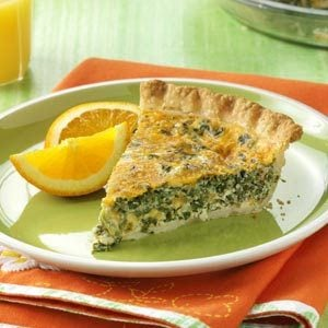Spinach Bacon Quiche Recipe