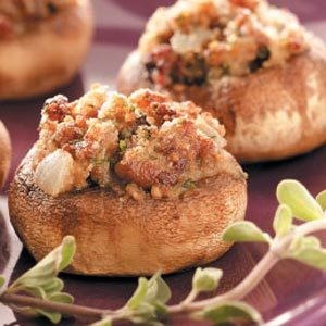 Pork Sausage-Stuffed Mushrooms