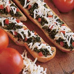 Spinach Garlic Bread Recipe