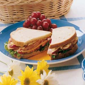 Nutty Ham and Apple Sandwiches Recipe