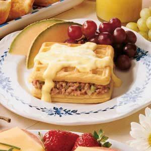 Ham Wafflewiches Recipe