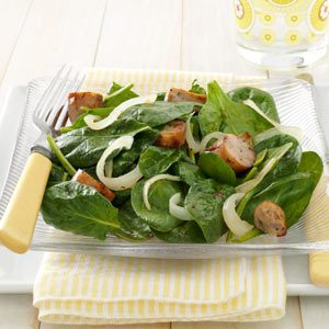 Sausage Spinach Salad Recipe