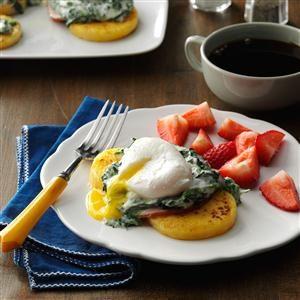 Poached Eggs & Polenta Recipe