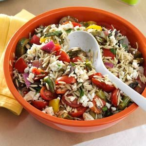 Grilled Vegetable Orzo Salad Recipe