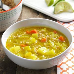 Coconut Curry Vegetable Soup Recipe