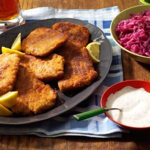 Pork Schnitzel with Dill Sauce Recipe