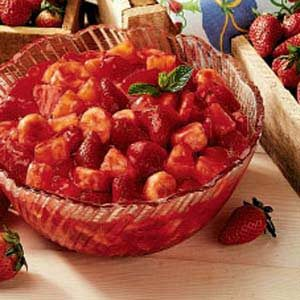 Strawberry-Glazed Fruit Salad Recipe