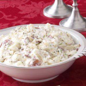 Garlic & Chive Mashed Red Potatoes Recipe