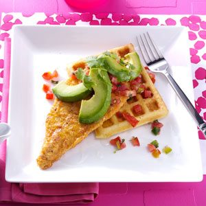 Tex-Mex Chicken and Waffles Recipe