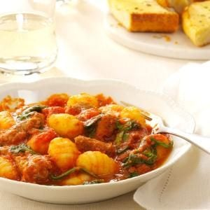 Sausage, Spinach and Gnocchi