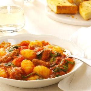 Sausage, Spinach and Gnocchi Recipe
