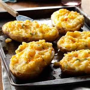 Watch Us Make: Cheesy Stuffed Baked Potatoes