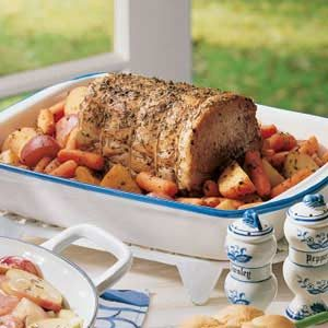 Rosemary Pork Roast with Vegetables Recipe
