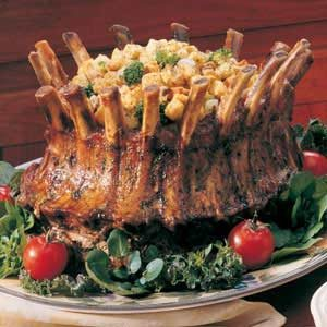 Mushroom-Broccoli Stuffed Crown Roast Recipe