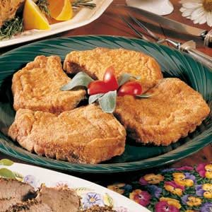 Breaded Pork Chops for Four Recipe