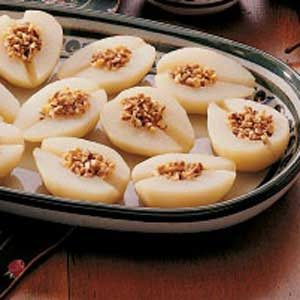 Almond-Stuffed Pears Recipe