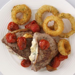 Blue Cheese-Stuffed Steaks Recipe