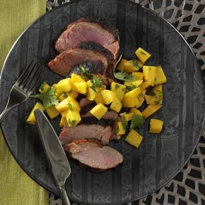 Spicy Pork Tenderloin with Mango Salsa Recipe
