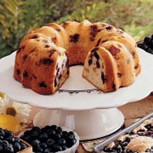Blueberry-Peach Pound Cake Recipe