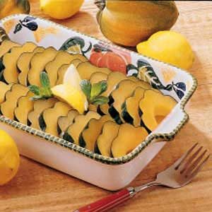 Lemony Acorn Slices