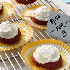 Frosted Red Velvet Cookies Recipe