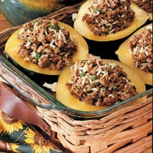 Curried Beef-Stuffed Squash Recipe