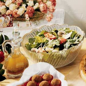 Quick Tossed Salad with Homemade Vinaigrette Recipe
