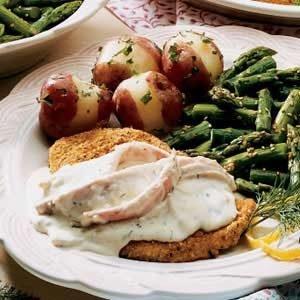 Chicken with Dilly Ham Sauce Recipe