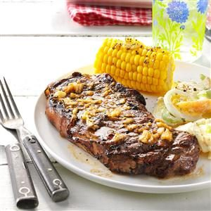 Garlic Grilled Steaks Recipe