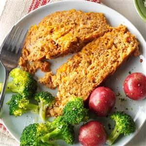 Cheesy Turkey Meat Loaf