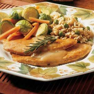 Herb-Glazed Turkey Slices Recipe