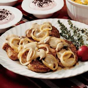 Pork with Mushroom Sauce Recipe