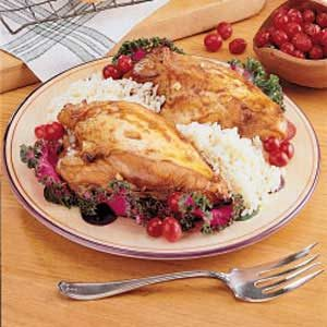 Cranberry Chicken for Two Recipe