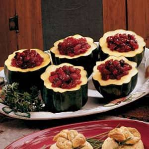 Chutney-Filled Acorn Squash Recipe
