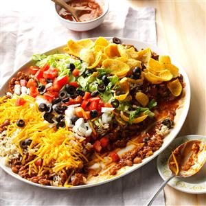 Texas Taco Dip Platter Recipe