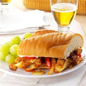Chicken Fajita Submarine Sandwiches Recipe