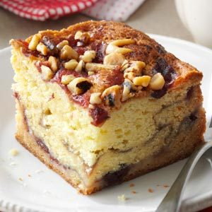 Pretty Cranberry Coffee Cake Recipe