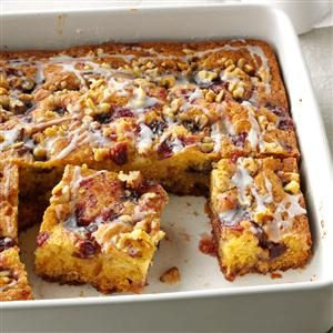 Pretty Cranberry Coffee Cake