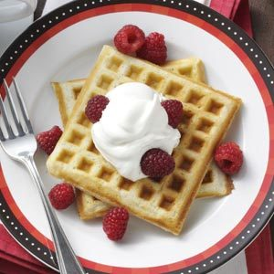 Sour Cream Cardamom Waffles Recipe