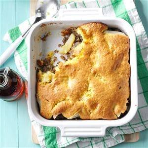 Sausage & Apple Corn Bread Bake