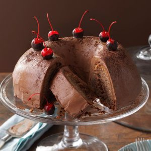 Chocolate-Cherry Brownie Cake Recipe