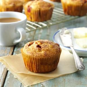 Cranberry Sweet Potato Muffins