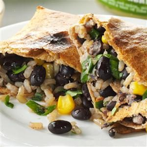 No-Fry Black Bean Chimichangas Recipe
