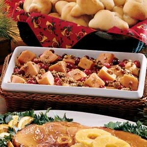 Colorful Cranberry Sweet Potato Bake Recipe