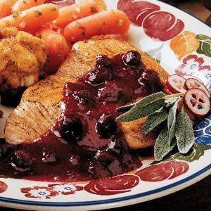 Turkey with Cranberry Sauce Recipe