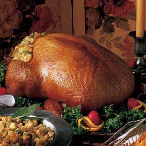 Turkey with Corn Bread Dressing Recipe