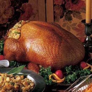 Turkey with Corn Bread Dressing Recipe